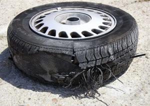 burst-tire